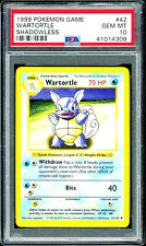 1999 Wartortle Shadowless Base Set Pokemon #42 PSA 10