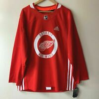 Adidas Detroit Red Wings Climalite Authentic NHL Pro Stock Practice Jersey - New