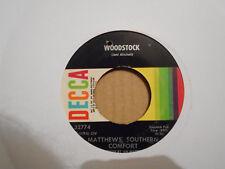 MATTHEWS SOUTHERN COMFORT,  WOODSTOCK,  DECCA RECORDS USA 1970 EX