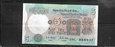 INDIA #80m 1985 5 RUPEES VF CIRCULATED  OLD BANKNOTE PAPER MONEY BILL NOTE
