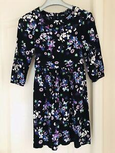 Asos Petite, Black Floral Dress, Size 6