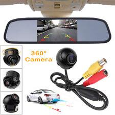 360° Rotatable Reverse Backup Parking Camera + 4.3Inch Lcd Mirror Display Screen