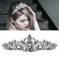 Bridal Princess Crystal Prom Hair Tiara Wedding Crown Headband Hair Accessory US