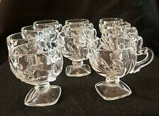 """11 Rare 1942-1965 Indiana Willow Leaf Mold Pedestal Punch Cups 3 1/2""""T 1942-65"""
