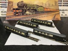 More details for 4 x graham farish n gauge pullman  carriages in brown & cream with lights added