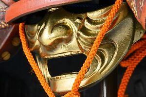 Japanese Samurai Kabuto Helmet -Super Rare Ogre Deco- Tsushima