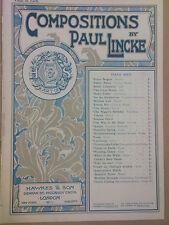 salon piano VENUS ON EARTH Valse, Paul Linke 1907