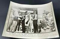 JACK DEMPSEY vs. FRED FULTON Boxing Heavyweight VINTAGE PHOTO July 27, 1918