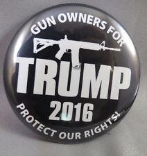 WHOLESALE LOT OF 12 GUN OWNERS FOR TRUMP PRESIDENT  BUTTONS 2ND AMENDMENT 2016