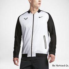 Nike NikeCourt Rafael Nadal Men's Tennis Jacket XL White Black Gym Casual New
