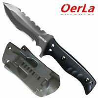 Oerla Tactical Fixed Blade Knives Outdoor Duty Field Knife Double Sided Blade
