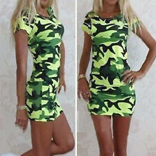 Summer Womens Casual Mini Dress Cocktail Party Slim Fit Pencil Bodycon Sundress