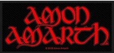 Amon Amarth - Red Logo Aufnäher Patch Viking Metal Pagan Heavy Kutte Wacken NEU