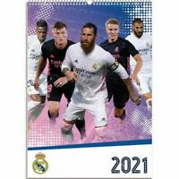 Real Madrid FC A3 Wall Format Calendar 2021 Official Licenced Product