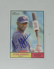 NYJER MORGAN SIGNED AUTO'D 2010 TOPPS HERITAGE CARD #187 NATIONALS PIRATES