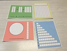 Write-On/Wipe-Off Unifix Cube Mats set