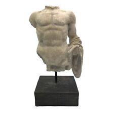 Male Bust Torso Figure Statue Sculpture Art Piece