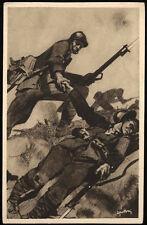 carte postale militaire 10TH ANNUAL DELLA VICTOIRE assoc.naz. combat.