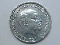 1959 FRANCO 10 CENTIMOS CON REVERSO GIRADO SPAIN SPANISH ESTADO ESPAÑOL