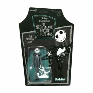 Jack Skellington Zero The Nightmare Before Christmas Super 7 ReAction Figure New