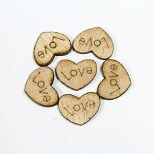 """50X Heart beads """"LOVE""""letter Wood Appointment Wedding Supply diy new Decor Ideas"""
