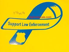 Support Law Enforcement Nypd Local County State Police Window Decal Sticker Car