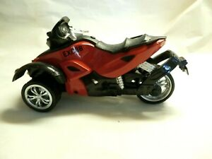Excite Can Am Spyder Plastic & Diecast Toy 3-Wheel Trike Motorcycle - Pullback