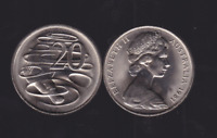 1981 20 Twenty Cent UNC Uncirculated Coin ex Mint Roll Australia