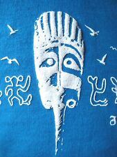 """Easter Island """"Rapa Nui"""" T-shirt (Sapphire Blue) ...with free shipping... ! ! !"""