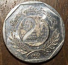 PIECE DE 2 FRANCS DROITS DE L'HOMME 1998 (275)