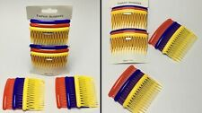 Beautiful Women's HAIR COMBS 6PC SET Fashion Accessory 2 Red 2 Blue 2Yellow NEW