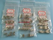 15 value 5x20 6x30 Ceramic Fuse & Fuses Quick Blow Glass kit 75pcs 1A 5A 10A