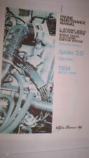 Alfa Romeo Spider Engine Maintenance Manual - 1984 -  PDF Version