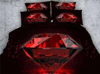 Crimson Diamonds 3D Printing Duvet Quilt Doona Covers Pillow Case Bedding Sets