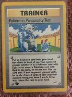 Pokemon Personality Test 102/105 1995-2000 Neo Destiny Trainer 1st Edition Mint