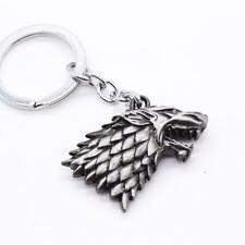 Keychain / Porte-clés - Game of Thrones House Stark Head 3D - Silver