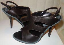 Barneys NY Co Op NEW  BROWN Slingback Heel Sandals  sz 39.5 new $495