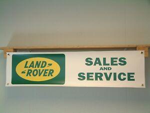 Land Rover Banner retro Sales Service Garage workshop Display show Sign