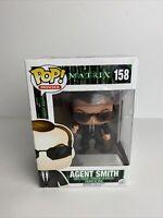 Funko Pop! Movies Matrix Agent Smith #158 Vaulted Vinyl Figure W/Protector