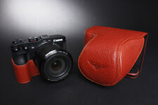 Genuine real Leather Full Camera Case bag cover for Canon G3X G3 X 24-600mm Lens