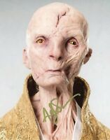 """~ANDY SERKIS Authentic Hand-Signed """"Star Wars Supreme Leader Snoke"""" 8x10 Photo G"""