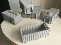 Warhammer War Game Container Hab Buildings Bunkers D+D Scenery 28mm 3d Printed