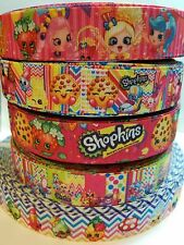 "5 Yards 7/8"" shopkins Mix Lot Grosgrain Ribbon Hair Bow Supplies."