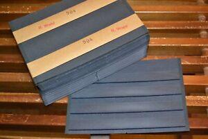 100 Stück HAWID Briefmarken Einsteckkarten A5 - 4 Streifen - 2. Wahl