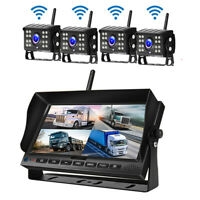 7 inch Truck BUS Monitor Rearview System w/ 4x Wireless Dash Camera Universal