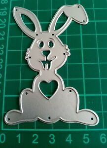SCRAPBOOK CARD MAKING PAPER CRAFT DIE - LOVE BUNNY by Craft Addiction UK