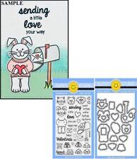 Sunny Studio SENDING MY LOVE 4x6 Clear Stamps & Custom Craft Die Set