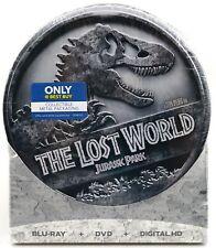 NEW The Lost World Jurassic Park 2 Best Buy Steelbook Blu-ray/ DVD/ Digital HD
