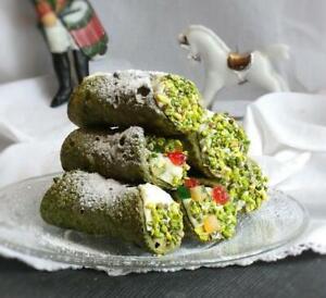 Cannoli Siciliani Cialde di Cannoli Piccoli di Pistacchio Verde di Bronte DOP