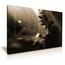 Star Wars Darth Vader Canvas Wall Art Picture Print 45x30cm Sepia